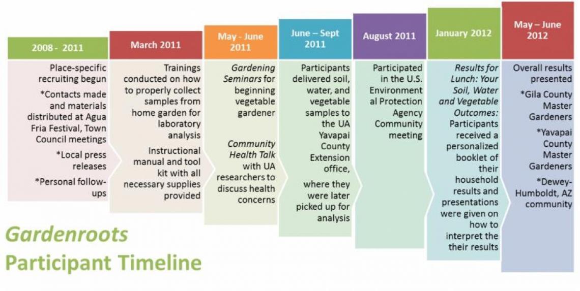 Gardenroots participant timeline