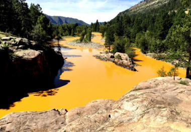Animas River after the spill